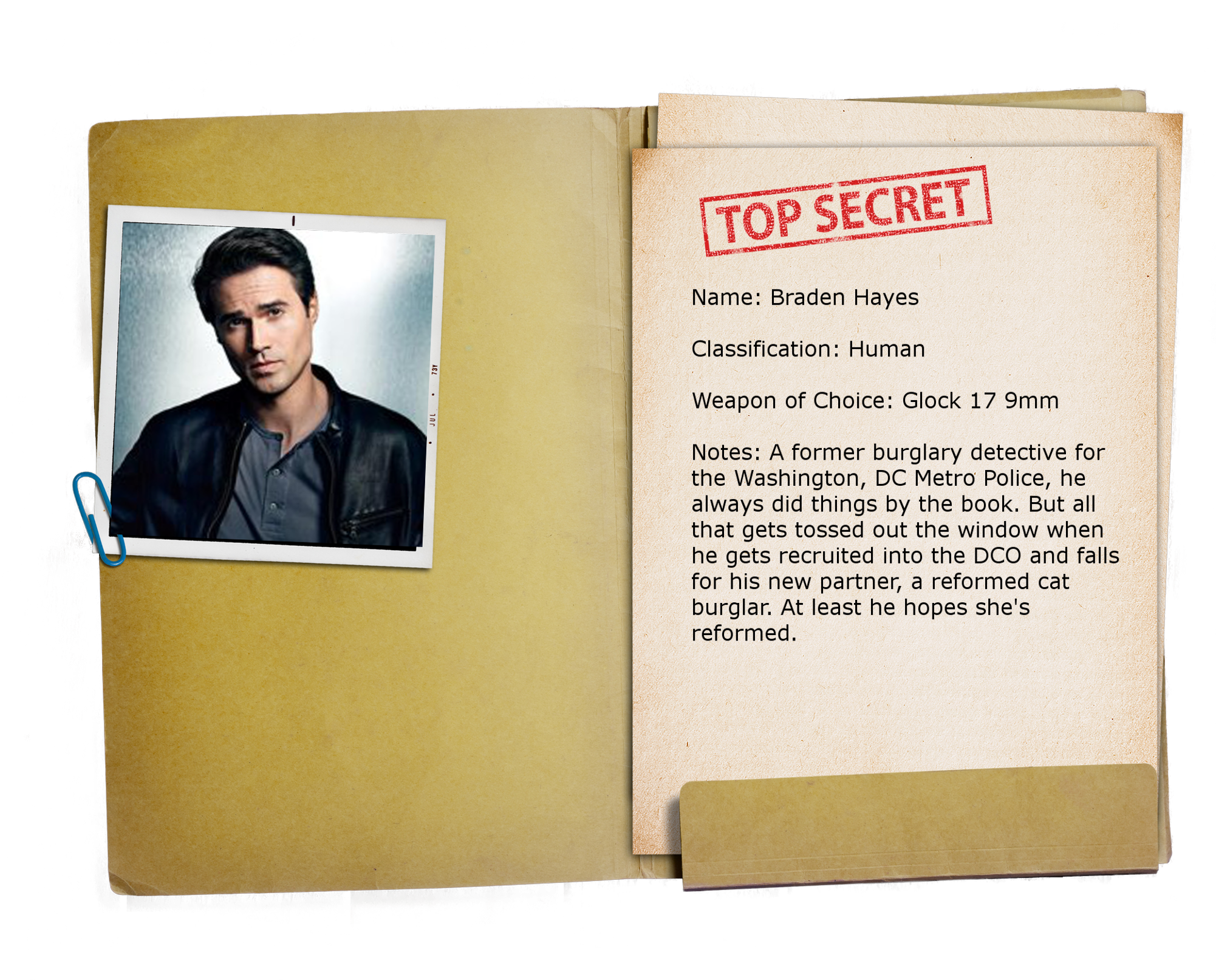 12 – Top Secret Folder TRANSPARENT Braden