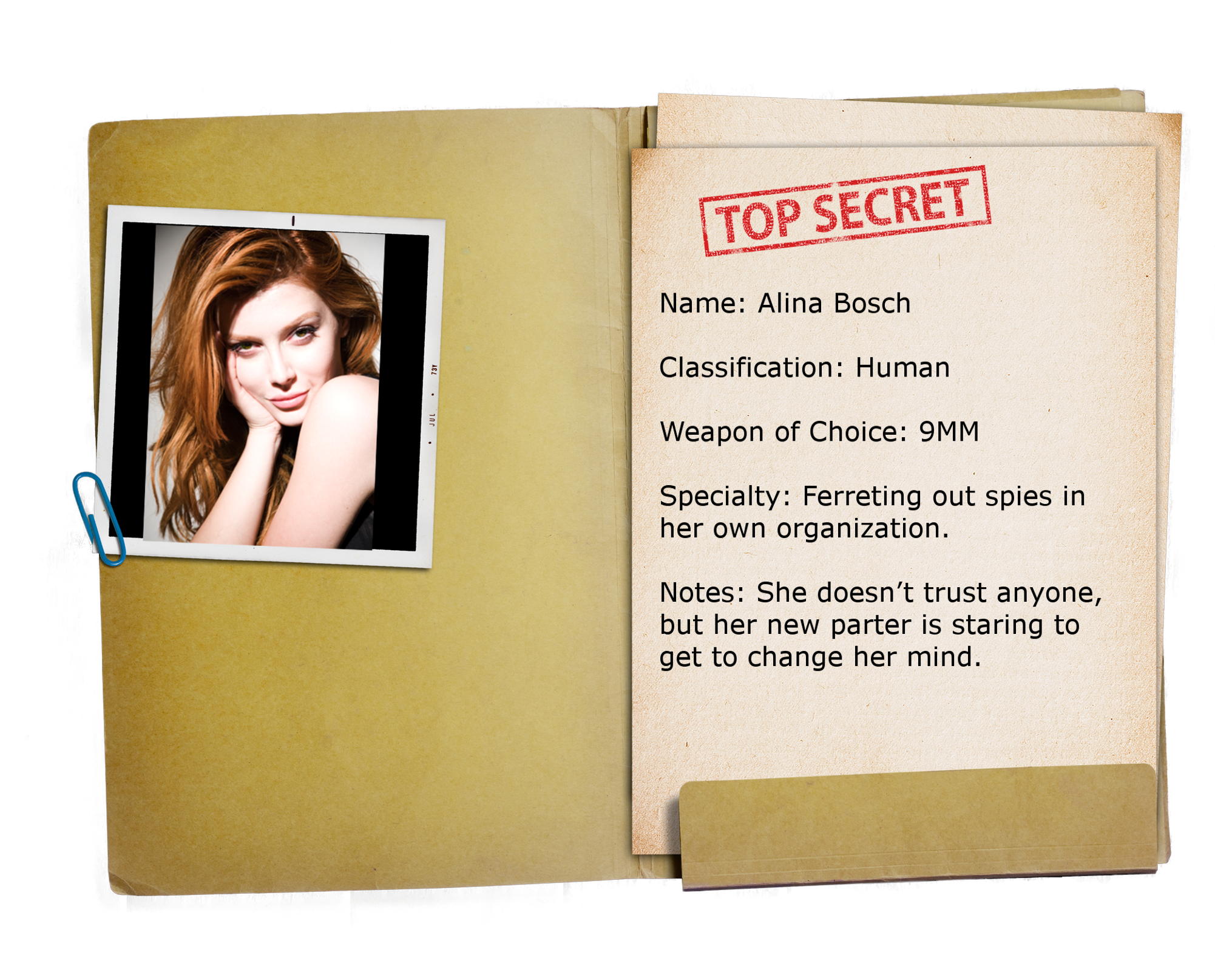 13 – Top Secret Folder TRANSPARENT Alina