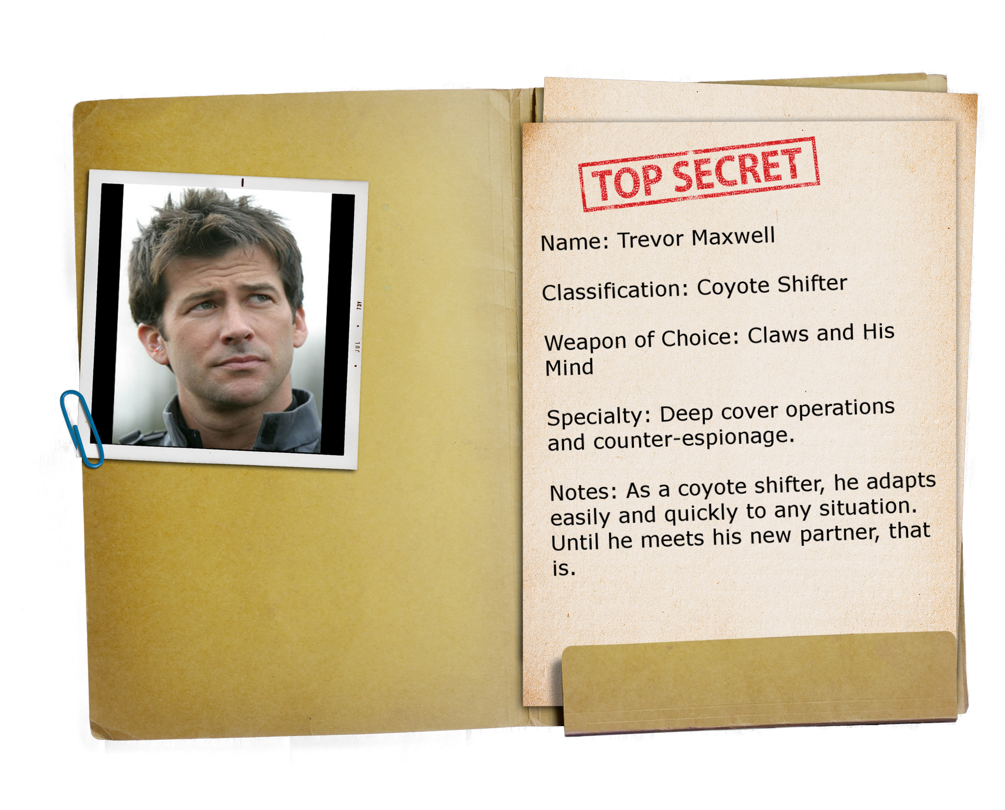 14 – Top Secret Folder TRANSPARENT Trevor