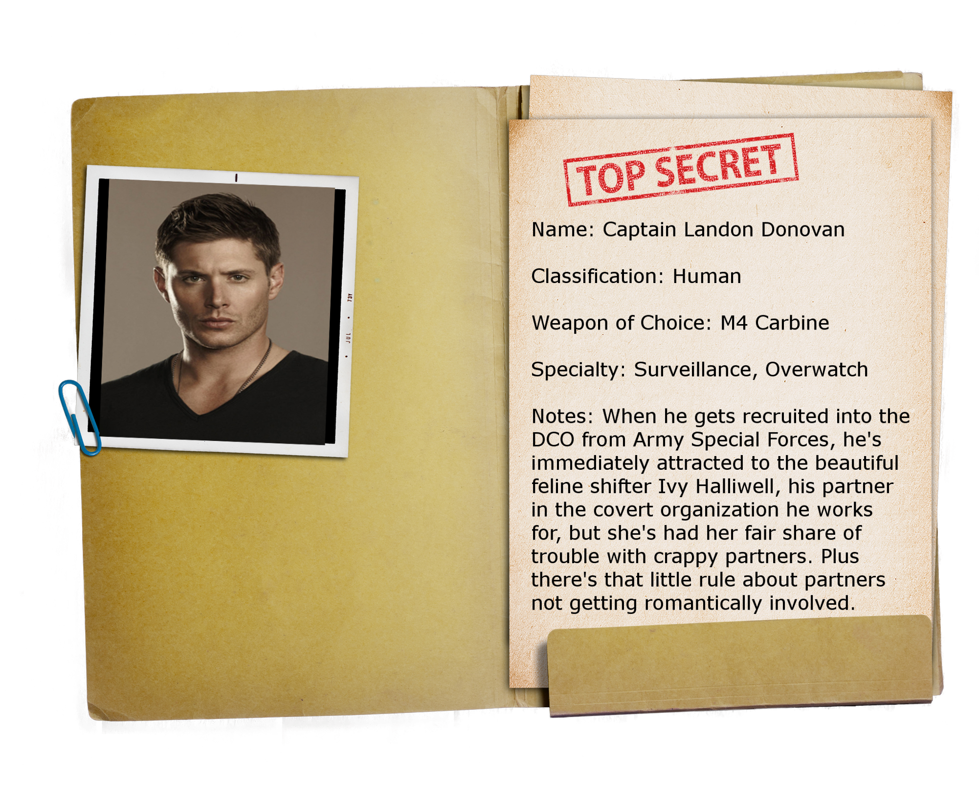 2 – Top Secret Folder TRANSPARENT Landon