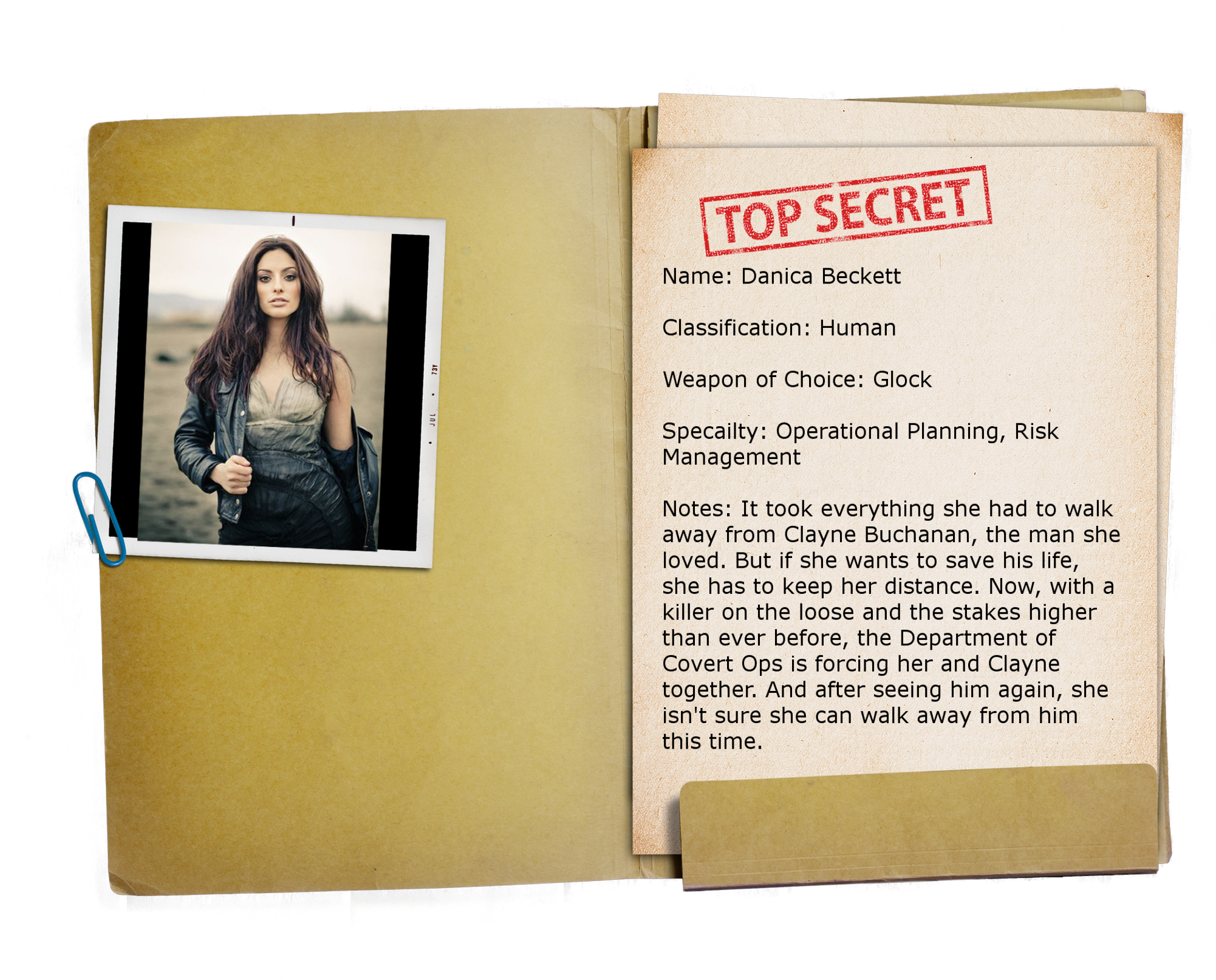 3 – Top Secret Folder TRANSPARENT Danica