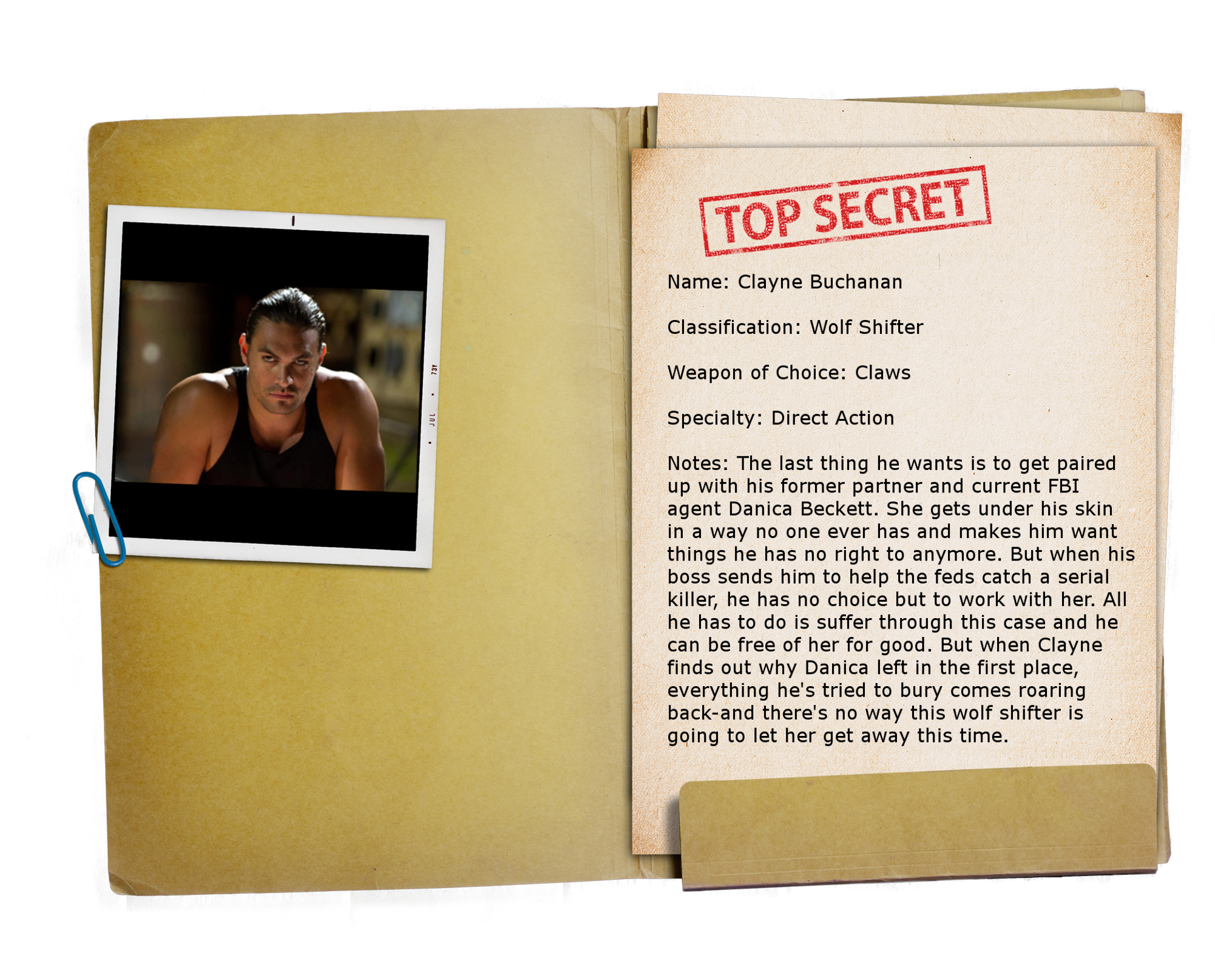 4 – Top Secret Folder TRANSPARENT Clayne