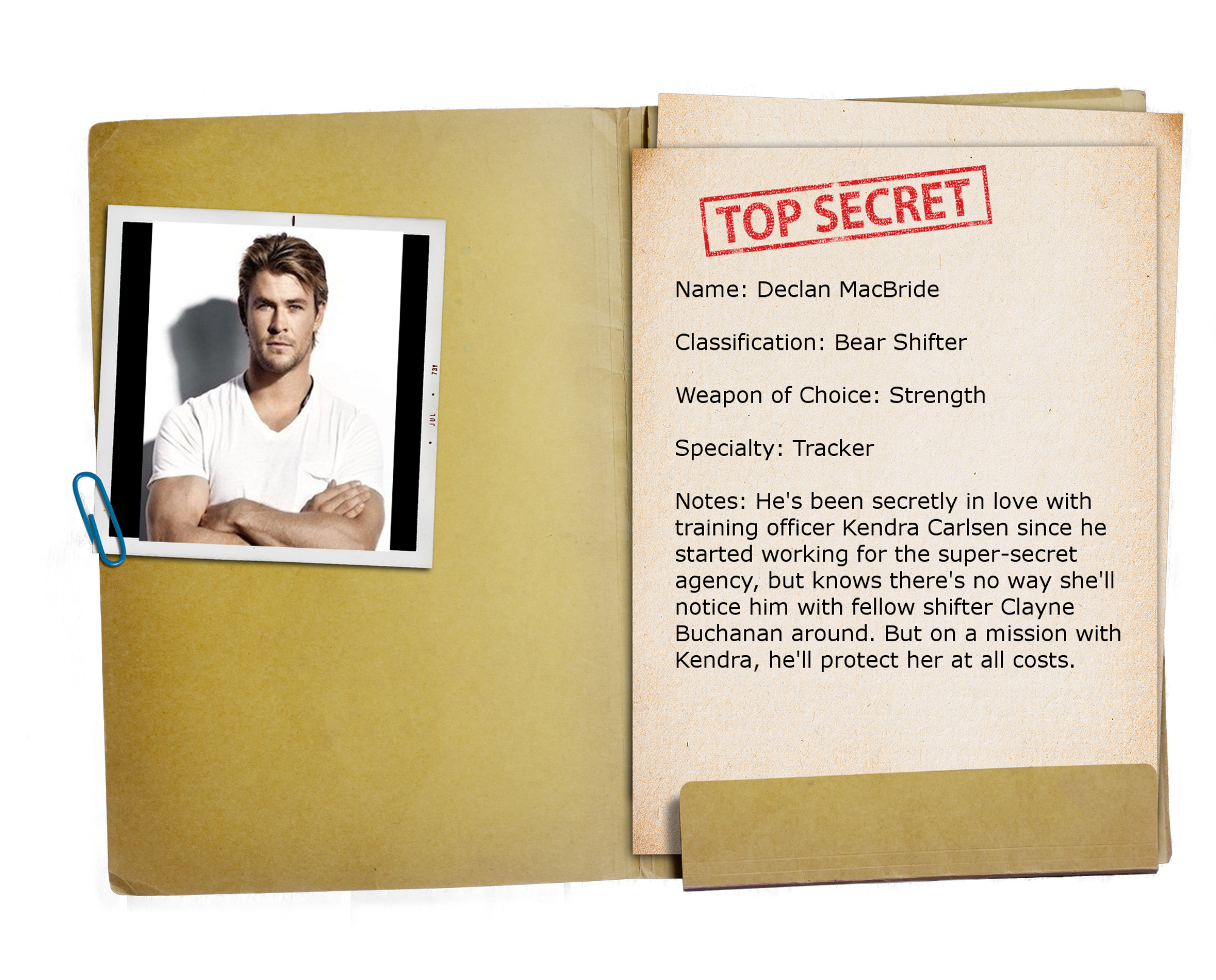 6 – Top Secret Folder TRANSPARENT Declan
