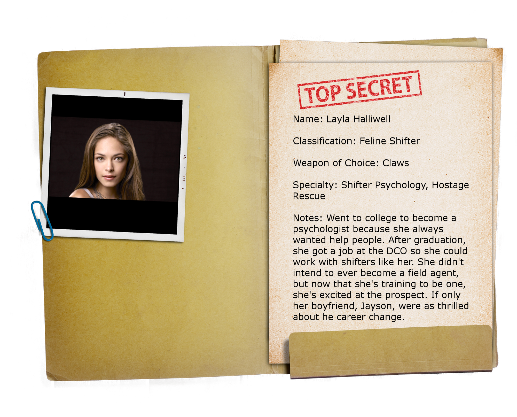 9 – Top Secret Folder TRANSPARENT Layla